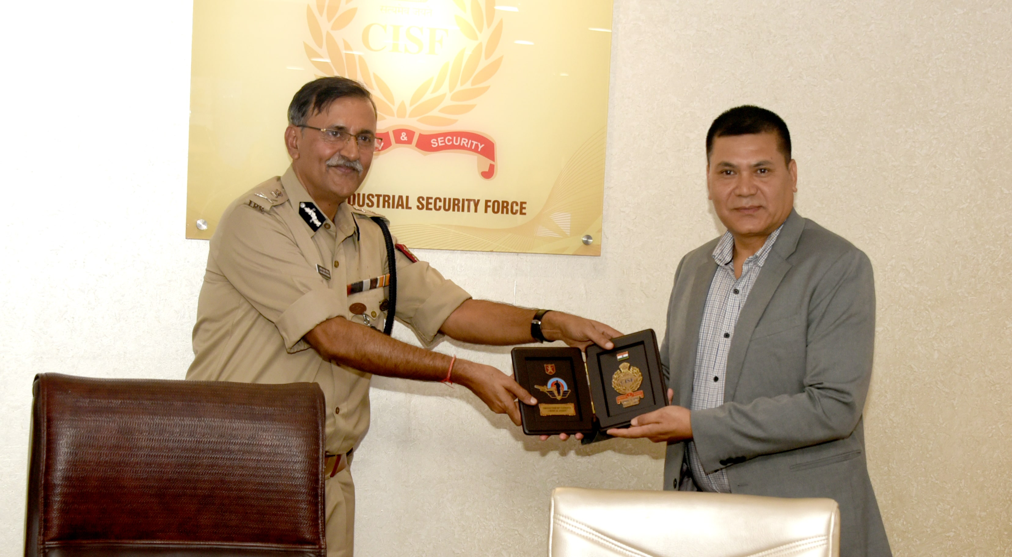 felicitation by SDG/CISF